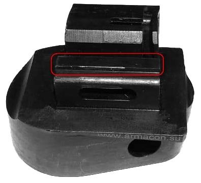 Адаптер для установки телескопического приклада на АК и Сайга(в том числе Сайга-9) со складным прикладом, в комплекте QD - фото 1